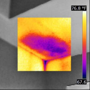 Houston Home Inspection Infrared Thermal Image Missing Insulation-2 (IR)